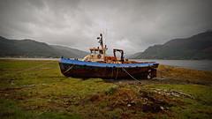 High and Dry.. (Harleynik Rides Again.) Tags: shipwreck rusty boat fishingboat lochduich highlands westcoast westerross weather harleynikridesagain nikondf