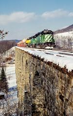 NYS&W 6542  NTV-9 Lanesboro, Pa. 01-09-88 (Vince Hammel Jr) Tags: railroad nysw scanned trains