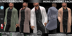 UG MENS LAB COAT PACK MP ([:.UNDERGROUND & JUSTICE.:]) Tags: secondlife fashion avatar virtualworld 3d 2ndlife maitreya slink physique hourglass belleza venus isis freya tonic fine curvy ebody jake signature gianni geralt aesthetic