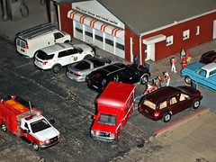Medical call . (THE RANGE PRODUCTIONS) Tags: greenlight matchbox johnnylightning gmc van fordf350 ambulance brushfiretruck jeepgrandcherokee lincolnnavigator chevrolet pickup fordpoliceinterceptorutility cmaro 164scale dioramas diecastdioramas diecast toy model modular hoscalefigures hoscale