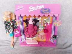 Barbie Party Dazzle Fashion Mall #3098 from 1991 (VintageZealot) Tags: barbie mattel party dazzle fashion mall paris pretty pretaporter special expressions 3098 european exclusive 1991 1989 1980s 1990s 80s 90s 4842 woolworth 7587 7588 7584 6558 vintage doll clothing clothes outfit model modelling china caucasian white blonde superstar super star velcro plastic snaps pumps jacket mini skirt purse handbag bag suit dress frilly shawl pantyhose leggings stockings lace bolero coat blazer fabric variation money cash register store credit debit card shopping mannequin dollar cheque retro