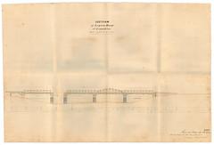 Logan River Bridge, c1878 (Queensland State Archives) Tags: bridge logan loganholme loganriver loganriverbridge schematic plans 1878 redbridge queensland qld history historical archives