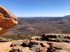 Devil's Peak, Quorn, South Australia (Marian Pollock) Tags: iphone lookout vista rockyplatform composition mountains plains landscape australia southaustralia uphigh