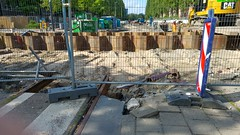 ( Geen) Sporen in het zand (Peter ( phonepics only) Eijkman) Tags: amsterdam city gvb detour omleiding wegwerkzaamheden roadworks tram transport trams tramtracks trolley rail rails strassenbahn streetcars nederland netherlands nederlandse noordholland holland