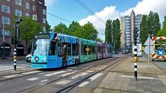 Geen Victorie... (Peter ( phonepics only) Eijkman) Tags: amsterdam city combino gvb tram transport trams tramtracks trolley detour omleiding rail rails strassenbahn streetcars nederland netherlands nederlandse noordholland holland