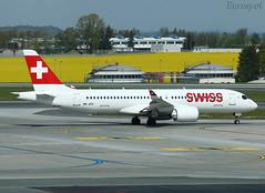 HB-JCK Airbus A220 Swiss (@Eurospot) Tags: cs300 airbus a220 a220300 swiss prague lkpr