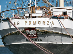 Dar Pomorza (Gift of Pomerania), Gdynia, Poland (msadurski) Tags: 35100 poland gdynia darpomorza vintage sailing tallship ship vessel lumix gm5