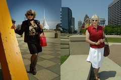 From 2012: Same Woman, Trying To Look Chic, And Trying To Look Casual (Laurette Victoria) Tags: composite woman laurette downtown milwaukee