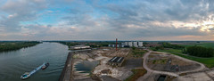 left overs (Jaco Verheul) Tags: puttershoek zuidholland nederland drone dji spark industrial decay river boat demolished sky cloud panorama urbex