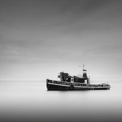 Idun (frodi brinks photography) Tags: idun copenhagen denmark amager strandpark ship shipwreck frodibrinks boat black white
