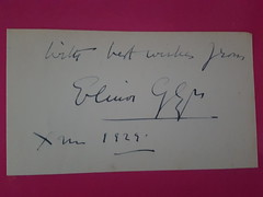 Signed card from author Elinor Glyn who specialised in romantic fiction. She popularised the concept of the 'it' girl from her novel 'It' in 1927, a film starring Clara Bow was made in which Elinor made an appearance  playing herself, was a massive hit. (andrewgeorge537) Tags: signed clarabow itgirl silent signedalbumpage romanticnovels