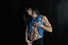 body builder and fitness model (ABWphoto!) Tags: usa virginia gym fitness bodybuilder abs muscles posing arms athletic fitnessclothing face athlete female one