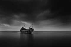 It was a dark day (Chamikajperera) Tags: sri lanka ceylon fine art photography landscape long exposure canon shipwrek storm rain clouds light black white
