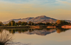 Squaw Butte Reflection (http://fineartamerica.com/profiles/robert-bales.ht) Tags: facebook fineart flickr gemcounty haybales idaho lake landscape people photo photouploads places scenic states spring mountain emmett sweet sunrise squawbutte farm rollinghills idahophotography treasurevalley clouds emmettvalley emmettphotography trees sceniclandscapephotography thebutte canonshooter beautiful sensational awesome magnificent peaceful surreal sublime magical spiritual inspiring inspirational wow robertbales town butte valley greetingcard reflection pond sawyers