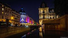 Paris by night-03 (bonacherajf) Tags: paris france bhv hôteldeville bynight nocturne