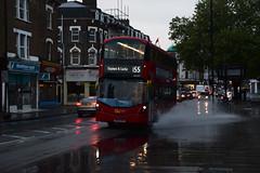 Go-Ahead London WHV93 on Route 155, Balham New Road (e400olympus) Tags: goahead london whv93 bd65ewo volvo b5lh hybrid wright wrightbus gemini 3