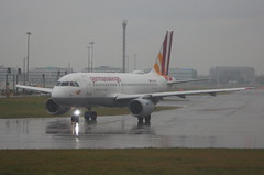 Germanwings D-AKNN Airbus A319-112 flight EW8465 departure from London Heathrow LHR England UK in heavy rain bound for Berlin TXL Germany (Cupertino 707) Tags: germanwings daknn airbus a319112 flight ew8465 departure from london heathrow lhr england uk bound for berlin txl germany heavy rain first date 25111999 06121999 us airways n726us 18052005 28102017 eurowings