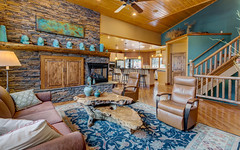 feel at home (.sanden.) Tags: sanden realestate canon ef1635mm canon6d colorado woodlandpark interior house home luxury wood chairs carpet lights teal yellow resort