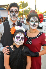 Family photo (radargeek) Tags: 2017 october dayofthedead plazadistrict okc oklahomacity facepaint kid child catrina