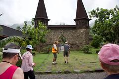 Tour Guide Notre Dame (jjknitis) Tags: 2019 belltowers cruise entrance eurodam hollandamerica island march30 marquesas nukuhiva polynesia southpacific tourguide