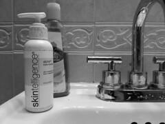 Skintelligence (streetravioli) Tags: street photography bathroom sink skin care lotion