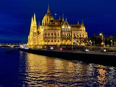 Parliament building at night, Budapest (kimbar/Thanks for 4.5 million views!) Tags: budapest hungary parliament lights danube river reflection