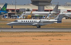 D-CQAA Learjet 45 Quick air Jet charter Faro 13-04-19 (cvtperson) Tags: dcqaa learjet 45 quick air faro fao lpfr