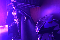 Purple Alley (misterperturbed) Tags: batman mezco mezcoone12collective one12collective sovereignknight onyxedition dccomics diamondselect lifx phillipshue mattel batcycle