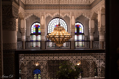 Waking up in One Thousand and One Nights tale  HFF (Irina1010) Tags: fence interior riad architecture chandelier columns elegance beautiful moorishstyle fez morocco 2019 canon windows stainedglass mosaic outstandingromanianphotographers