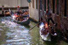 Momenti veneziani - Venetian moments (Eugenio GV Costa) Tags: approvato venezia gondole acqua laguna mare venise controluce italia