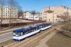 Das Ödland in der Stadt (trainspotter64) Tags: strasenbahn streetcar tram tramway tranvia tramvaj tramwaje lettland latvia čkd tatra t6su rīga satiksme