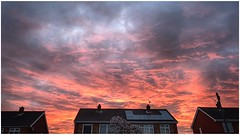 On fire (Andy Stones) Tags: sunrise sunlit sunlight morning outdoors outside clouds weather weatherwatch sky skywatching nature naturephotography naturelovers natureseekers rooftops urban colour colourful image imageof imagecapture photography photoof scunthorpe northlincolnshire northlincs lincolnshire nlincs