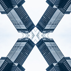 (jfre81) Tags: chicago sears willis tower kaleidoscope urban city 312 landmark icon skyscraper mirrored folded reversed james fremont photography jfre81 canon rebel xs eos