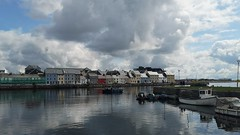 View from Claddagh (mcginley2012) Tags: claddagh galway ireland cameraphone huaweip20pro rivercorrib thelongwalk terrace urban reflection duck galwayhooker boat buoy water