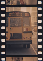 Chicago School Bus (Jovan Jimenez) Tags: canon t50 tamronf fd 135mm f28 fpp retrochrome 320 expired kodak ektachrome chicago school bus yellow tamron oldlens vintagelens retrolens classiclens manuallens old grain film 35mm slide analog analogue lifesizeconverter