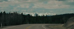 Open Road ... (Mr. Happy Face - Peace :)) Tags: weekend sky cloud roadway albertabound cans2s art2019 rockies mountains trees forest snowcaps spring
