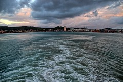 Outbound. (Ian Ramsay Photographics) Tags: french port newcaledonia noumea gesture parting carnivalspirit passengers explore sights sounds wake water sea ocean tourists ship liner
