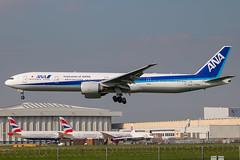 All Nippon Airways - Boeing 777-381ER JA785A @ London Heathrow (Shaun Grist) Tags: ja785a ana allnipponairways boeing 777 777381er shaungrist lhr egll london londonheathrow heathrow airport aircraft aviation aeroplanes airline avgeek landing 27l