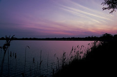Late for sunset (Krystian38) Tags: sunset purple water sky landscape poland landscapes clouds pentax sigma