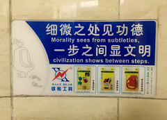 Morality (cowyeow) Tags: weird funnychina asia asian funny chinese china odd funnysign sign yiwu zhejiang toilet bathroom washroom restroom misspelled misspelling civilisation morality malebear