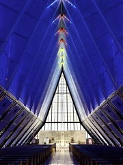 Blue Chapel (__ PeterCH51 __) Tags: iphone modernarchitecture architecture architektur airforceacademychapel airforceacademy coloradosprings colorado amerika america usa church chapel peterch51