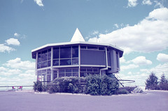Agfacolor. 'Carousel' restaurant, Red Hill Lookout, Red Hill ACT. 1970's (mjcas) Tags: agfacolor 1970s architecture australia redhill restaurant