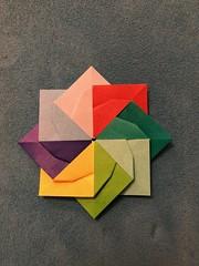 Windmill Star from Origami Journey by Dàša Ševerivá (anuradhadeacon-varma) Tags: dášaševerová modular origami windmill star origamiwindmillstar