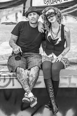 Sly and Charli (Thomas Hawk) Tags: america bayarea california charli charliblake cossonhall sf sagehall sanfrancisco slyvegas starburst treasureisland usa unitedstates unitedstatesofamerica westcoast abandoned bw decay graffiti fav10 fav25 fav50