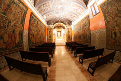 Chapel of Corpus Christi. (Annette Rumbelow) Tags: chapelofcorpuschristi annetterumbelowwilson smallchapel spain valencia fisheyelens