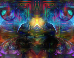 flow my tears the policeman said... (Mark Noack) Tags: light color photoshop layer layering surreal expressionism abstract psychedelic futurist abstraction