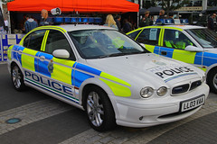 LL03 VAA, Gunwharf Quays, Portsmouth, October 3rd 2015 (Southsea_Matt) Tags: ll03vaa merseysidepolice jaguar xtype unitedkingdom england hampshire portsmouth gunwharfquays october 2015 autumn canon 60d policingthroughtheages ptta15 transport vehicle police policecar patrolcar 999 112 911 emergencyservices bluelights