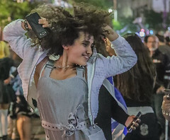 If you can't fix it; feature it… (ybiberman) Tags: israel jerusalem citycenter party independenceday technoparty girls adolescent portrait candid streetphotography dancing fun hair curlyhair smartphone cellphone documentary noisy noise 71stindependenceday