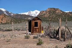 Stone House Ranch Outhouse (joeqc) Tags: nevada nv nye stone stonehouseranch county fuji xt20 xf18135f3556 toquima mountains outhouse house ranch fence oncewashome fujifilm