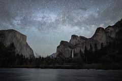 Milky Way at Valley View (alicecahill) Tags: ca night gatesoftheballey milkyway landscape ©alicecahill yosemitenationalpark stars elcapitan sony bridalveilfall california yosemite valleyview sky 2019 spring nationalpark
